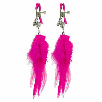 Pipedream Fetish Fantasy Series Cerise Fancy Feather Clamps