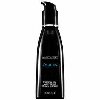 Wicked Aqua Fragrance Free Water Based Lubricant (60ml)