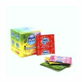 Skins Cube Flavoured Assorted Condoms - 16 Pack