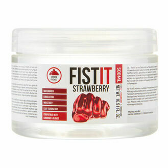 Shots Fist It Strawberry Extra Thick Lubricant (500ml)