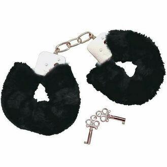Fifi Bad Kitty Black Plush Handcuffs