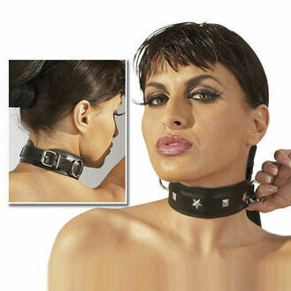 Zado Leather Collar With Stud Detail