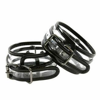 NS Novelties Bare Bondage Clear Vinyl Wrist Cuffs