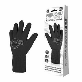 Fukuoku Vibrating Five Finger Massage Glove Left Hand