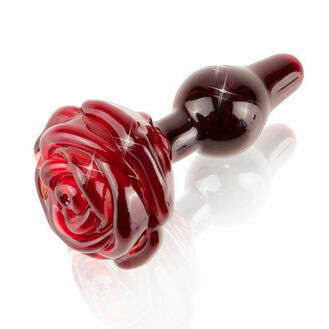 Icicles No. 76 Glass Rose Butt Plug 3.5 Inch