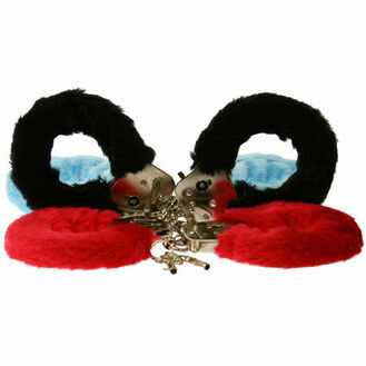 Toy Joy Furry Fun Cuffs-Black