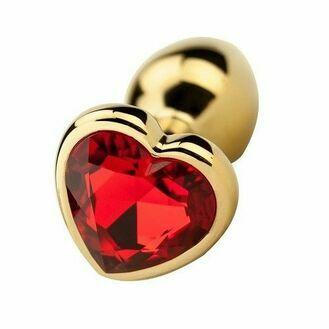 Precious Metals Heart Shaped Anal Plug